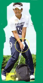 ゴルフのインパクト画像